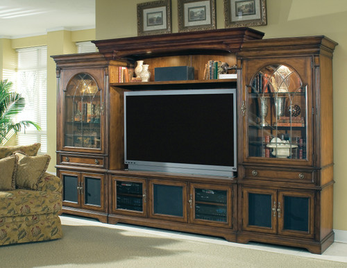 """87"""" Hooker Furniture Entertainment Brookhaven Home Theater Unit - 1"""