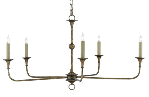 "36"" Currey and Company Nottaway Bronze Small Chandelier - 1"