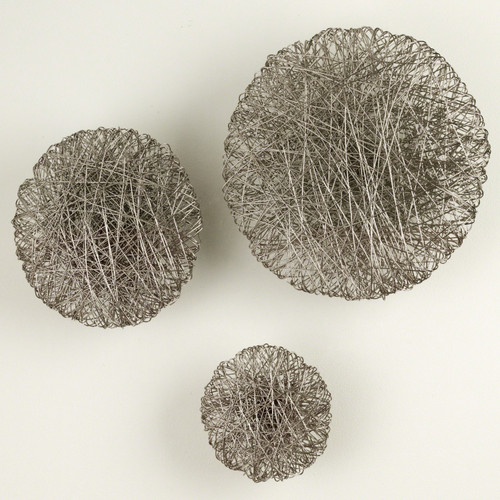 Global Views Wired Wall Disc Panel - Nickel - Small - 1