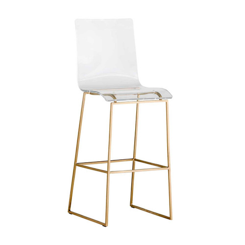 Gabby Home King Bar Stool - Gold - 1