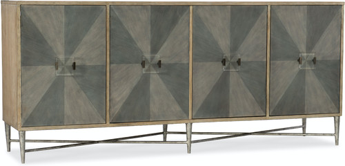 "38"" Hooker Furniture Living Room Melange Zola Four-Door Credenza Cabinet - 1"