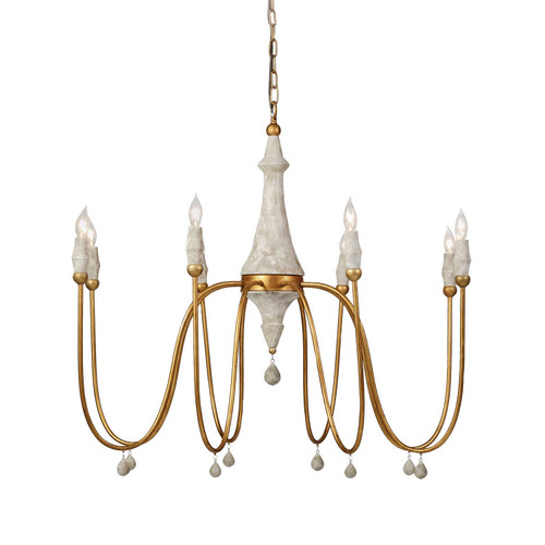 Gabby Home Clay Chandelier - Gold - 1
