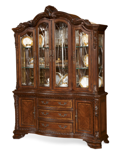 ART Furniture Old World- China Cabinet Set, Medium Cherry -1