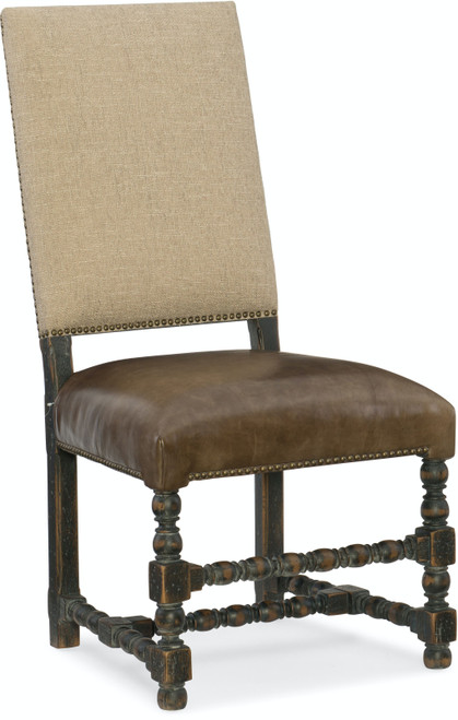 "44"" Hooker Furniture Dining Room Hill Country Comfort Upholstered Side Chair - 1"
