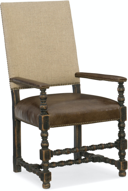 """44"""" Hooker Furniture Dining Room Hill Country Comfort Upholstered Arm Chair - 1"""