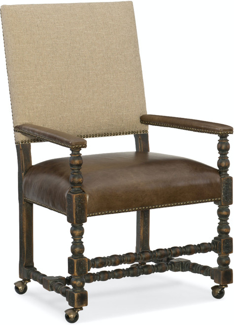 """42"""" Hooker Furniture Dining Room Comfort Castered Game Chair - 1"""
