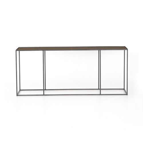 "30"" Four Hands Phillip Console Table - Antique Brass Clad - 1"