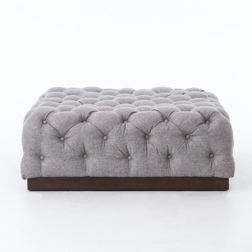 """17"""" Four Hands Plateau Cocktail Ottoman - Chess Pewter - 1"""