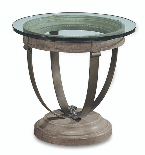"""ART Furniture Arch Salvage - 31"""" Moss Lamp Table - Mist, Paint - Gray -1"""