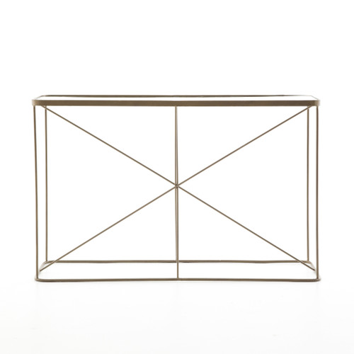 "30"" Four Hands Lucas Console Table - Antique Brass - 1"