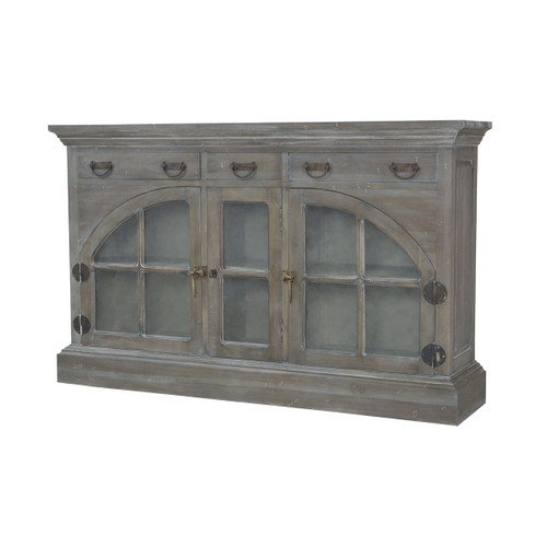 """65"""" ELK Home Farmhouse 3-Door 3-Drawer China Credenza, Traditional - 1"""