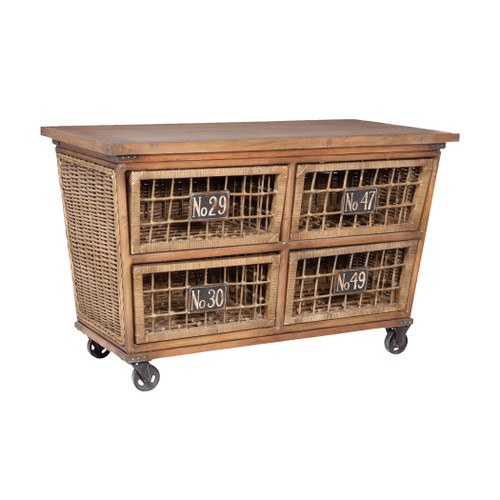 """56"""" ELK Home Artifacts Kitchen Station, Traditional - 1"""