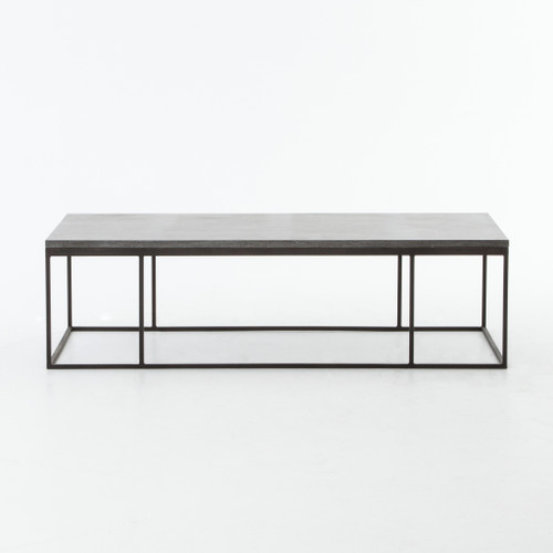 "17"" Four Hands Harlow Small Coffee Table - Bluestone - 1"