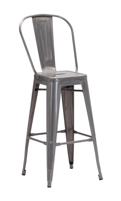 Elio Bar Chair Gunmetal