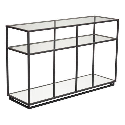 Kure Console Table - Distressed Black
