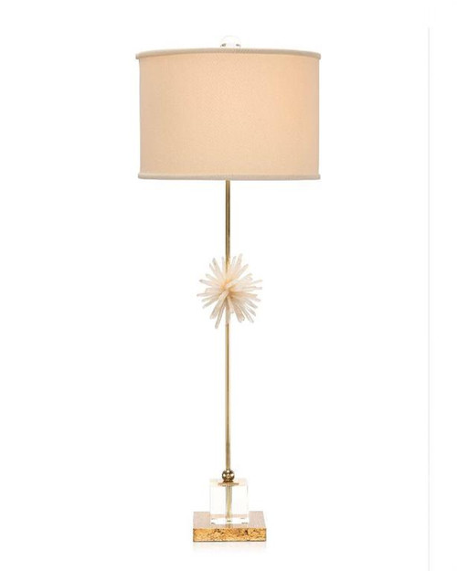 "37"" John Richard Crystal and Brass Buffet Lamp - 1"