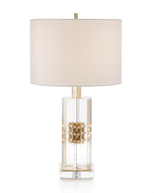 "24"" John Richard Brass and Acrylic Table Lamp - 1"