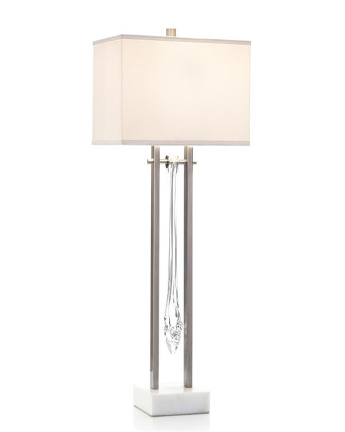 "37"" John Richard Glass Drops Contemporary Buffet Lamp - 1"