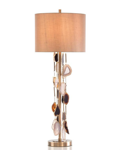 "37"" John Richard Falling Agate Buffet Lamp - 1"