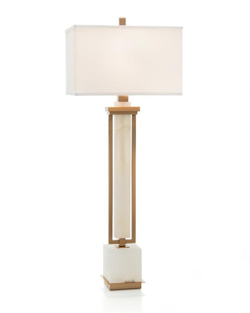 "42"" John Richard Buffet Lamp in Coffee Bronze and White Alabaster - 1"