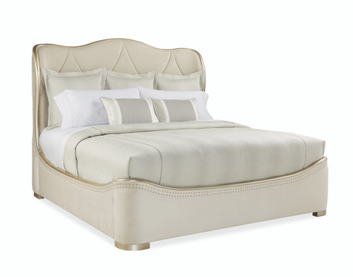 "Caracole 85"" Adela - Queen Bed, Blush Taupe-1"