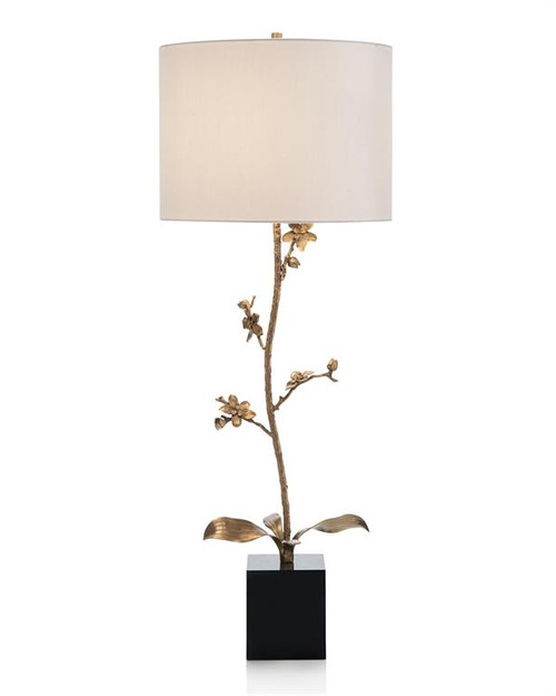 "37"" John Richard Brass Orchid Candlestick Buffet Lamp - 1"