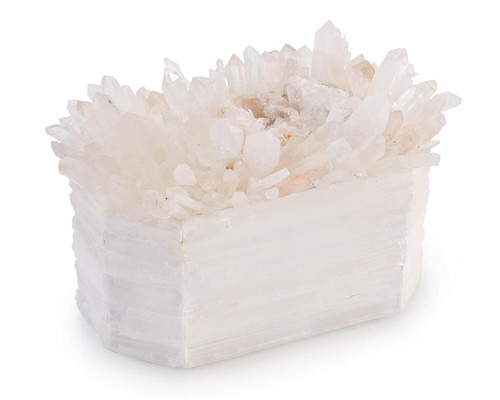 "11"" John Richard Crystals on White Box - 1"