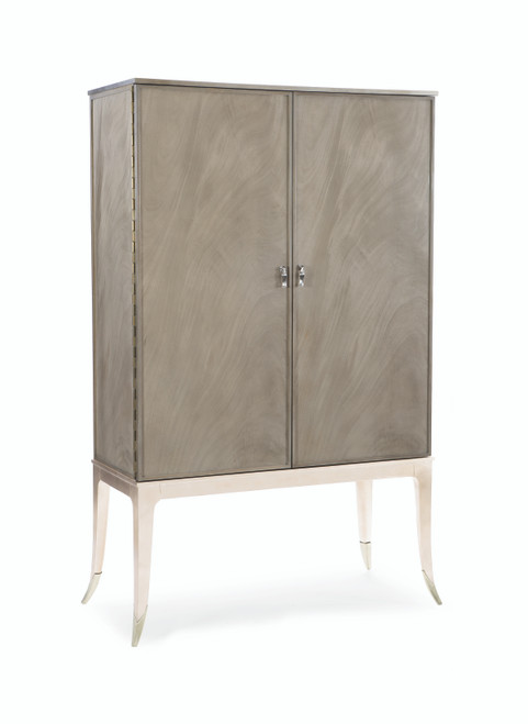 "Caracole 72"" Caracole Classic - High And Mighty, Silver Fox, Soft Silver Leaf, Soft Silver Paint-1"