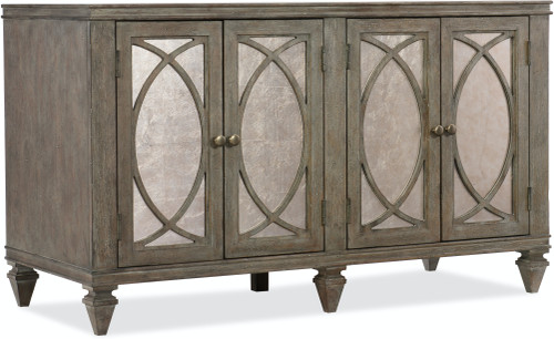 "31"" Hooker Furniture Home Office Two-Drawer Rustic Glam Credenza Cabinet - 1"