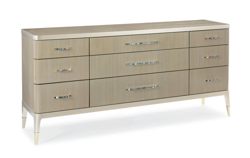 """Caracole 76"""" Caracole Classic - All Dressed Up, Champagne Shimmer, Taupe Paint, Whisper of Gold-1"""