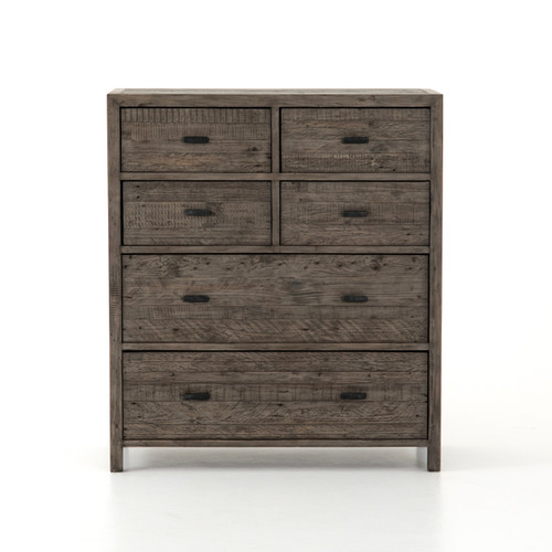 "47"" Four Hands Caminito 6 Drawer Tallboy Chest - Black Olive - 1"