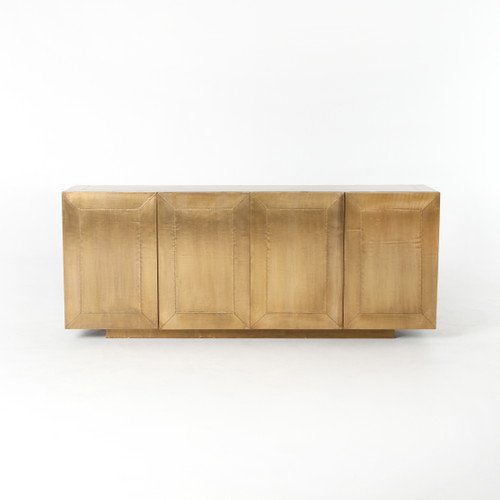 """29"""" Four Hands Freda Sideboard Cabinet - Aged Brass - 1"""