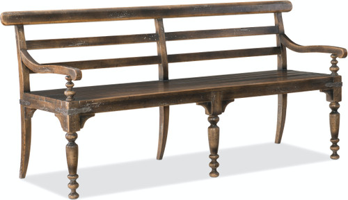 "35"" Hooker Furniture Hill Country Helotes Dining Bench - 1"