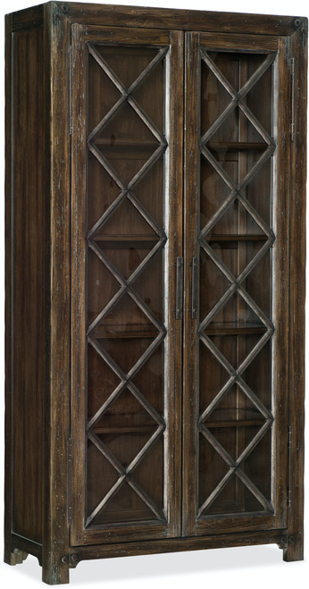 """82"""" Hooker Furniture Dining Room Roslyn County Bunching Display Cabinet - 1"""