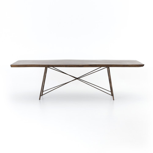 """29"""" Four Hands Rocky Dining Table - Bronzed Iron - 1"""