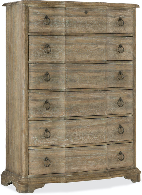 "60"" Hooker Furniture Bedroom Six-Drawer Boheme Chimay Chest - 1"