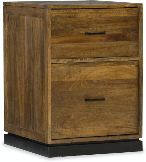 "27"" Hooker Furniture Home Office Two-Drawer Rustique Mobile File - 1"