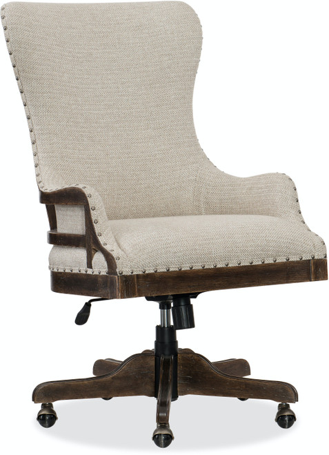 "42"" Hooker Furniture Home Office Roslyn County Deconstructed Tilt Swivel Chair - 1"