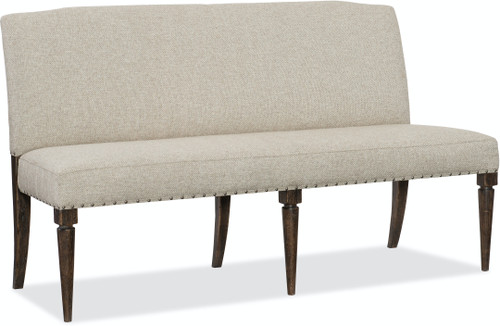 "38"" Hooker Furniture Roslyn County Upholstered Dining Bench - 1"