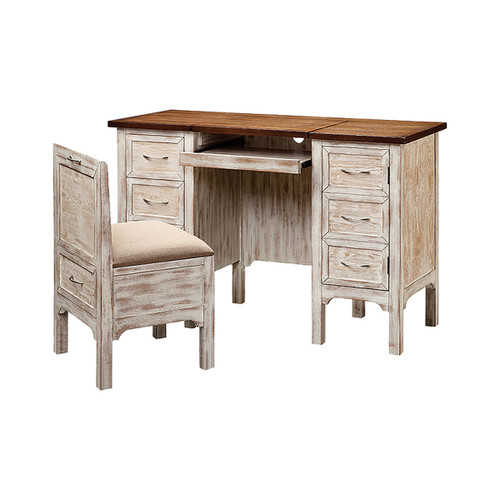 """48"""" Stein World Caitlyn 1-Door 2-Drawer Computer Desk with Chair, Traditional - 1"""