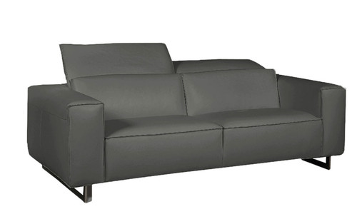 Giadia Sofa Dark Grey #35607 With Adjustable Neck Rest Cushions
