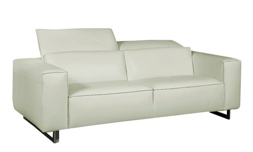 Giadia Sofa Light Grey #35602 With Adjustable Neck Rest Cushions