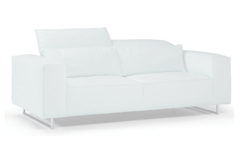 Giadia Sofa White #35612 With Adjustable Neck Rest Cushions