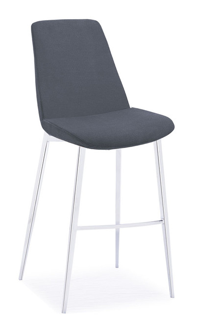 Athena Counterstool Charcoal Fabric