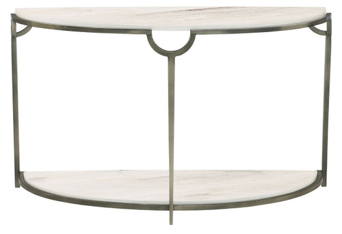 "Bernhardt 48"" Freestanding Occasional Morello Demilune Metal Console Table - 1"