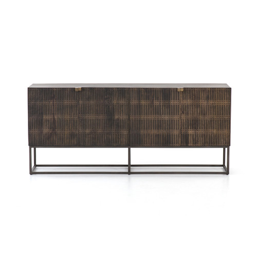 """30"""" Four Hands Kelby Sideboard Cabinet - Carved Aged Brown - 1"""