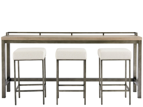"82"" Universal Furniture Curated Mitchell Console Table with 3 Stools - 1"