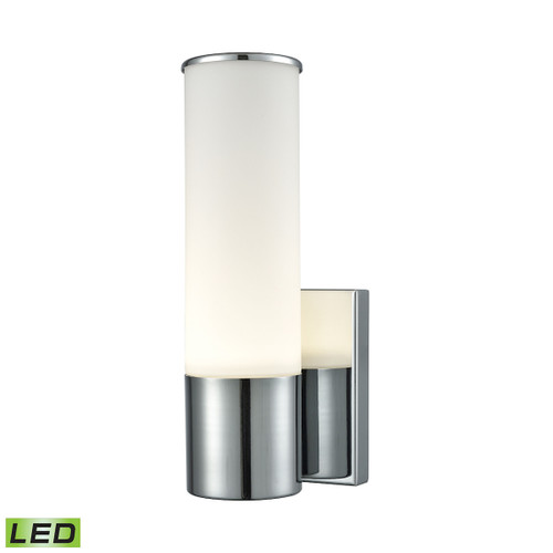 "10"" ELK Lighting Maxfield 1-Light Wall Lamp in Chrome with Opal Glass - Integrated LED, Modern / Contemporary - 1"