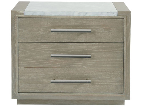 "32"" Universal Furniture Zephyr Nightstand with Stone Top - 1"