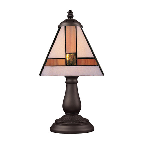 "13"" ELK Lighting Mix-N-Match Table Lamp in Tiffany Bronze, Traditional - 1"